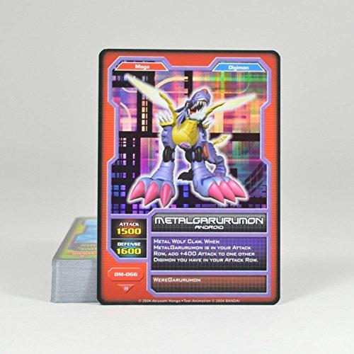 2004 BANDAI Digimon Monsters Card Game Deck (50 Cards) Metalgarurumon on Top