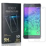 GIMTON Displayschutzfolie für Galaxy Alpha, Ultra Dünn HD Panzerglasfolie mit 3D Touch, 9H Härte Schutzfilm aus Gehärtetem Glas für Samsung Galaxy Alpha, 4 Stück