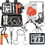 feketeuki trousse d'outils de survie de boîte de trésor de survie en plein air kit de premiers secours multifonctionnel sur le terrain sos fournitures d'urgence