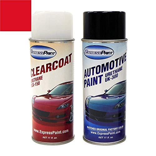 ExpressPaint Aerosol - Automotive Touch-up Paint for Ford Mustang - Race Red PQ...