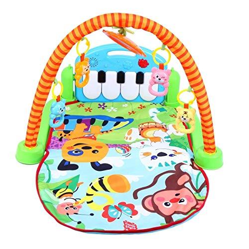 XuanYue Spieldecke 3 in 1 Krabbeldecken Spielbögen mit Musik für Babys
