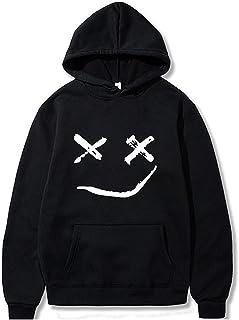 Halloween Sweatshirt سوياتشيرتس هالوين للرجال، طويلة الأكمام مقنعين سترة ابتسامة وجه مطبوعة البلوز البلوز Long Sleeve Shir...