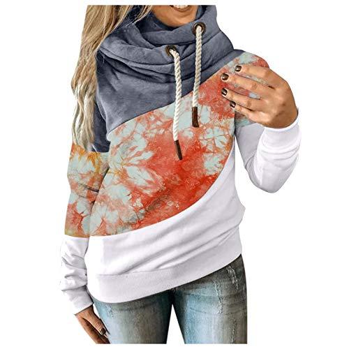 Kobay Hoodie Damen Herbst Winter Kapuzenpullover Sweatshirt Pullover Sweatshirt Langarm Winterjacke Mantel Top