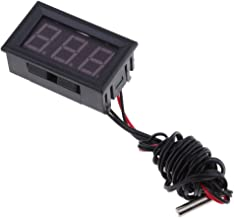 LED Termómetro Digital Incorporado Detector Indicador de Temperatura DC 12V Pantalla LED - Azul