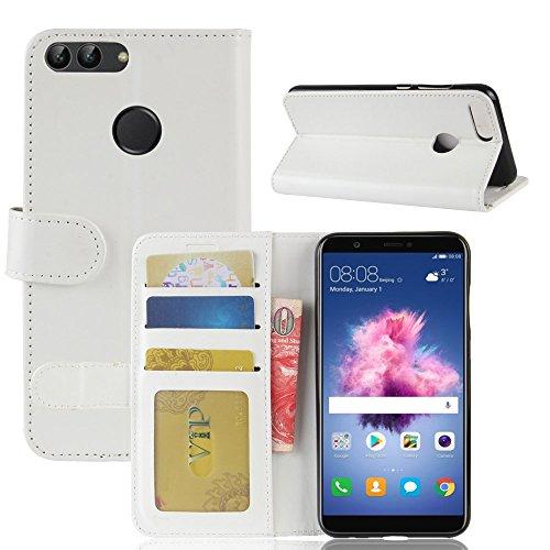 GOGME Huawei Honor 9 Lite Funda Carcasa de Cuero Flip, Cubierta de Cartera con Estilo para Huawei Honor 9 Lite. Blanco