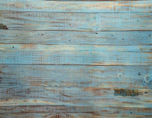 YongFoto 1x1,5m Vinyl Distressed Blau Holz Hintergrund Vintage Stripe Holzbrett Fotografie Hintergrund für Photo Booth Baby Kinder Fotostudio Requisiten