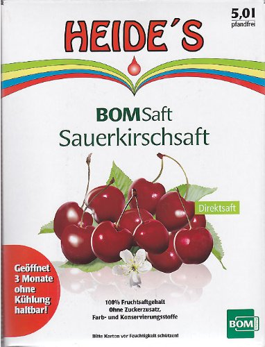 BOMSaft Sauerkirsche naturbelassen, 5 Liter