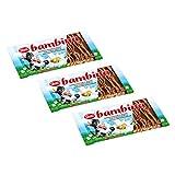 3er Pack Zetti Bambina Vollmilchschokolade (3 x 100 g) mit gerösteten Haselnusssplittern