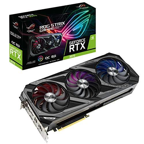 Asus GeForce RTX 3070, Tarjeta de Video Nvidia ROG-STRIX-RTX3070-O8G-GAMING (PCIe 4.0, 8GB GDDR6, HDMI 2.1, DisplayPort 1.4a,...