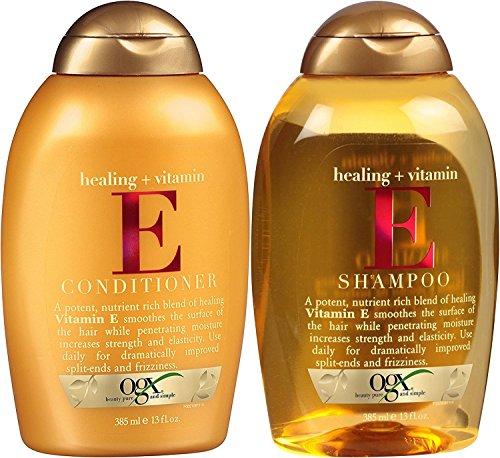 OGX Healing Plus Vitamin E Shampoo and Vitamin E Conditioner [Bundle of 2 Items]