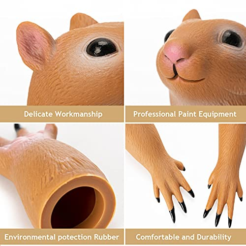 RONIAVL Handi Squirrel Finger Toys Hand Puppet Novelty Animal Tiny Handy Doll Props Plaything Gift for Kids Birthday Party Cosplay Performance Latex Soft Odourless
