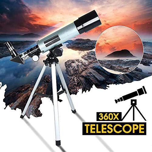 DJG Teleskop Für Kinder Anfänger Erwachsene, Erziehungswissenschaft Refraktor Mit Super Strong Aber Leichten Stativ Tragbarer Reise Telescopefor Astronomie Anfänger