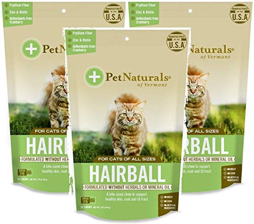 Pet Naturals Hairball Supplement for Cats (3 Pack)