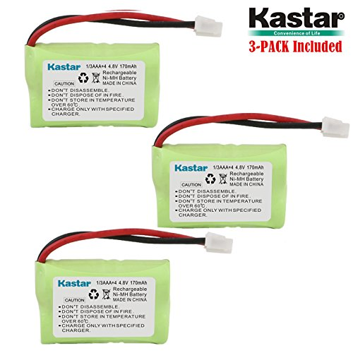 Kastar 3-Pack 4.8V 170mAh Ni-MH Rechargeable Battery for PetSafe Yard & Park Remote Dog Trainer, PDT00-12470 RFA-417 PAC00-12159 FR-200P Collar Receiver Plus Coaster, SportDog FR200, SD-400, SD-800