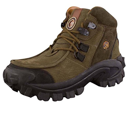Woodland Men's Olive green Leather Boot-10UK (44 EU) (GB 0433107Y15)