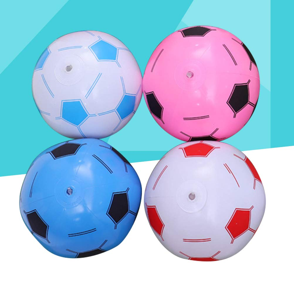 Toyvian 4pcs Pelotas de fútbol inflables balones Deportivos ...