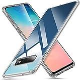 Whew Samsung Galaxy S10 Plus Hülle, HD Transparent Anti-Gelb Hard PC Back und Soft Silikon Hybrid Handyhülle, Kratzfest Durchsichtige Schutzhülle Hülle für Samsung Galaxy S10 Plus - Crystal Clear