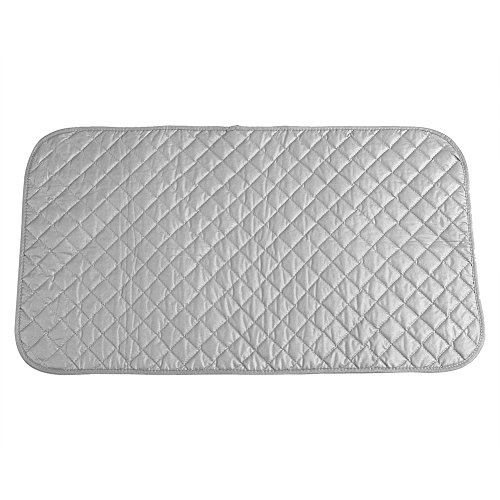 Fdit Ironing Pad Ironing Blanket Mat Laundry Pad Gray Quilted Washer Dryer Heat Resistant Pad Iron Board Alternative Cover Portable
