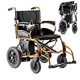HIGHKAS Fauteuil Roulant électrique léger, Fauteuil Roulant électrique Pliable, Fauteuil électrique à Traction Avant, Scooter médical Portable pour mobilité handicapée et âgée, Prend en Charge 200