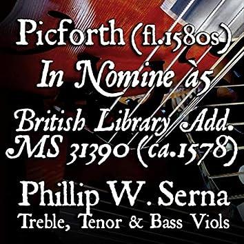 Picforth: In Nomine à5, British Library Add. Ms 31390