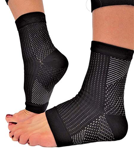 PEDIMEND Compression Foot Sleeves Ankle Arch Support Socks 2PAIR Pain Relief from Plantar FasciitisArthritisSprainsSwellingTendonitisMuscle Fatigue Foot Care Small UK 5 95