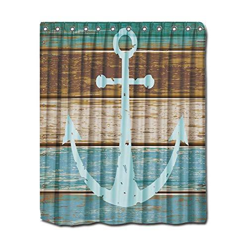 Yardwe 180 x 180 cm Rideau de Douche résistant à la moisissure imperméable Imprimé Polyester Rideau de Bain pour Salle de Bain