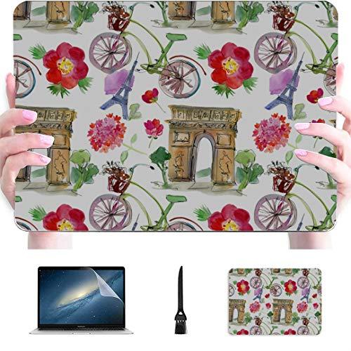 Mac Book Pro Accessories Paris Landmark Eiffel Tower Arc De Triomphe Plastic Hard Shell Compatible Mac Air 13' Pro 13'/16' A1706 MacBook Pro Case Protective Cover for MacBook 2016-2020 Version