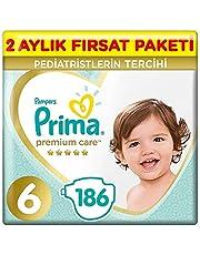 Prima Bebek Bezi Premium Care 6 Beden 186 Adet Junior 2 Aylık Fırsat Paketi ( 93 Adet x 2 )