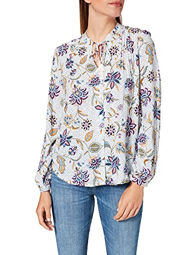 Springfield Blusa Flor Indiana Camisa, Marfil, 34 para Mujer