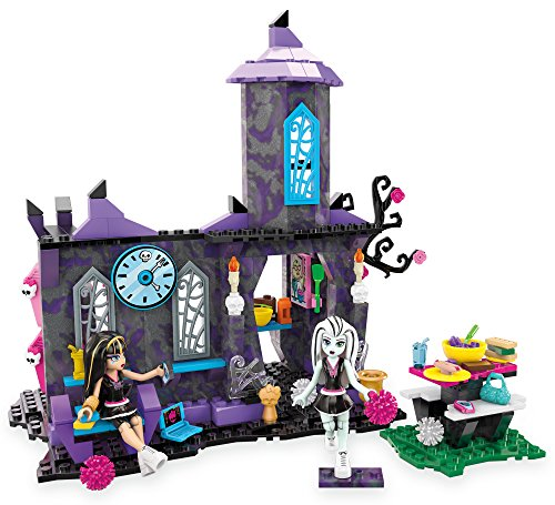 Mega Bloks Toy - Set da gioco Monster High Creepateria 208 pezzi con Cleo de Nile e Frankie Stein Doll