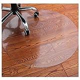 HYCH-Office Chair Mat For Hard Floor,Round/odorless PVC Transparent Plastic Carpet Non-slip Wear Resistant Living Room Multifunction Floor Mat,2.6mm,65cm