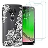 Motorola Moto G7 Play Case,383 White flower Soft