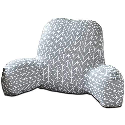 Lankater Kissen Rückenkissen Mit Armstütze Baumwolle Leinen Plüsch Bett Lese Erholung Taille Stuhl Sofa Rastlendenkissen