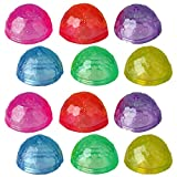ArtCreativity Diamond Cut Poppers, Set of 12, Pop-Up Half Ball Toys in Assorted Colors, Old School Retro 90s Toys for Kids, Birthday Party Favors, Goodie Bag Fillers for Boys and Girls