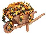 Tradicional de madera rústico decorativo macetero carretilla (100cm)