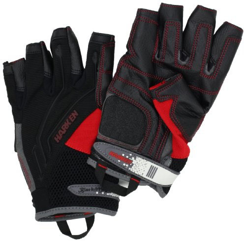 HARKEN Sport Men's 3/4 Finger Reflex Gloves, Black, Medium