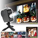 Window Projector 12 Movie Festival Projection Lamp,Halloween Holographic Projection ,Turn Your Windows Into A Festive Movie Screen,Christmas Halloween Gifts Outdoor Garden Decoration