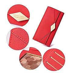 CLUCI Women Wallet Soft Leather Designer Trifold Multi Card Organizer Lady Clutch #4