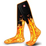Heated Socks for Men Women,Rechargeable Electric Battery Powered Sock Winter Thermal Camping Foot Warmer for Cycling Hiking Hunting Skiing,Unisex Winter Warm Novelty Heat Battery Stockings Sox