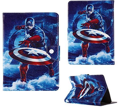 7 fundas para tablet de 7 pulgadas 8 8 pulgadas 9.7 9.7 pulgadas 10.1 pulgadas ~ Marvels Avengers Hero Case (Universal 10 pulgadas (10.1 pulgadas), Capitán América)