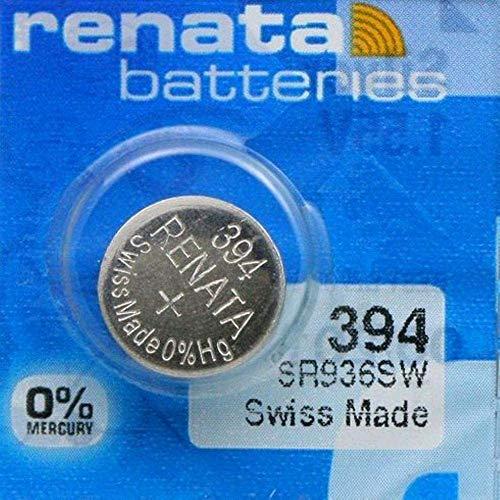 Renata 394 SR936SW Lot de 10 piles bouton pour montre 1,55 V