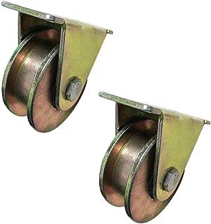 Type Schuifpoort Roller Groove Wielspoor,Stalen Schijf Schuifdeur Richtingswiel,voor Industriële Machines Carts (2 pack, 6...