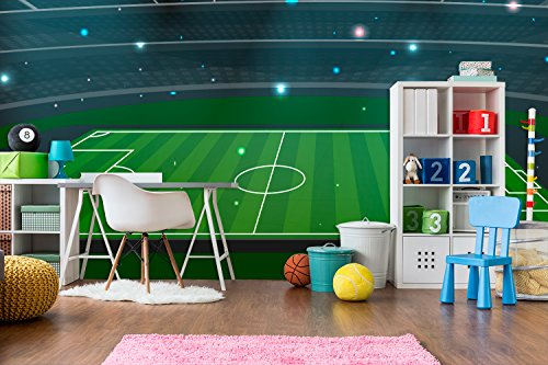 Fotomural Vinilo Pared Estadio de Futbol | Fotomural para Paredes | Mural | Vinilo Decorativo | Varias Medidas 150 x 100 cm | Decoración comedores, Salones, Habitaciones.
