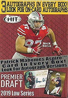 c424a01be9b 2019 Sage Hit Premier NFL Draft Series Factory Sealed Blaster Box with 3  Guaranteed Autographed Cards