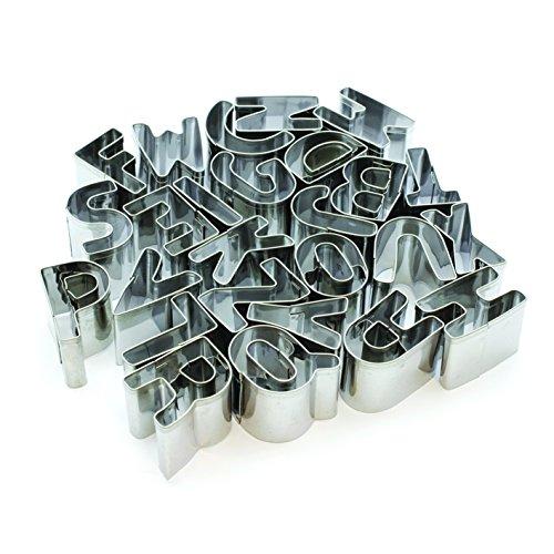 LILY COOK KP5130 Emporte-pièce forme Alphabet Inox Argent 2,40 x 2,40 x 2 cm 26 pièces