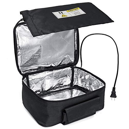 fgg Calefacción eléctrica Portable climatizada Almuerzo Box Office Mini Horno Microondas Bolsa de Almuerzo 220V inmediata Oficina del Calentador del Calentador de Alimentos, una fengong (Color : A)
