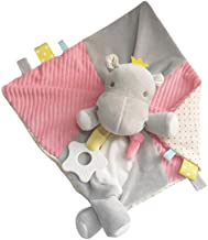 TOYANDONA Baby Security Blanket Hippo Soft Stuffed Animal Plush Soothing Toy Sleeping Towel Pacifying Rattles Toy for Baby Home Room Grey