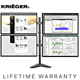 Krieger Dual Monitor Mount Full Motion Articulating Arm Monitor Stand - Universal Fit for Double Computer Screens, 13 inches - 27 inches Screens Vesa Mount