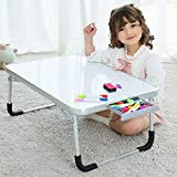 DOINUO Lap Desk for Kids, Great Children's Drawing Desks for Arts Crafts for Bed Couch Floor, Foldable Laptop Bed Table Tray with Drawer, Including Drawing Pen & Eraser - Free Gift, A-Dry Erase Boards