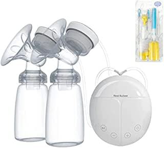 Beauenty Double Electric Breast Pump With Milk Bottle Convenient USB PP BPA free Powerful Breast Pumps Baby Breast Feeding...